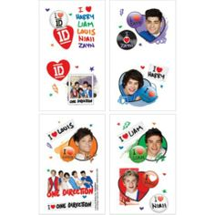 One Direction Tattoos 16ct - Party City