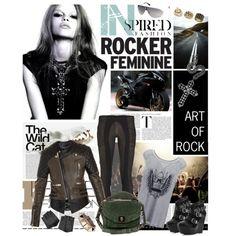 """Art of Rock"" by stripesndots on Polyvore"