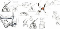Quinny BUZZ 2 ideation sketches
