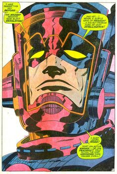 Jack Kirby, words from Stan Lee - the dangers of the Unknown! And what it means to know for Galactus!