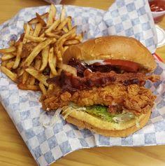 Bacon & Chicken Burger - Yummy Foooooood                                                                                                                                                                                 More