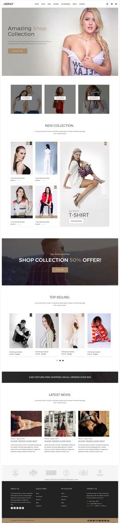 Leeray is a wonderful responsive #HTML bootstrap template for stunning #eCommerce website with 4 unique homepage layouts download now➩ https://themeforest.net/item/leeray-ecommerce-bootstrap-html/19617119?ref=Datasata