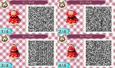 Minnie dress QR. Animal Crossing New leaf. AC NL. QR CODE. ANIMAL CROSSING JUMP OUT.