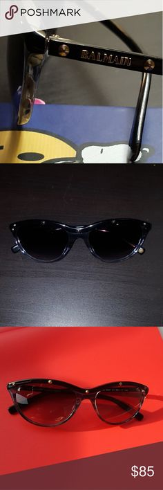 Balmain sunglasses Adorable Balmain sunglasses, in great condition and comes with case!   This is a reposh I thought these glasses were bigger but they are small  for my taste. Super cute nonetheless    🙂💗 free gift with purchase  🎀 Balmain Accessories Sunglasses