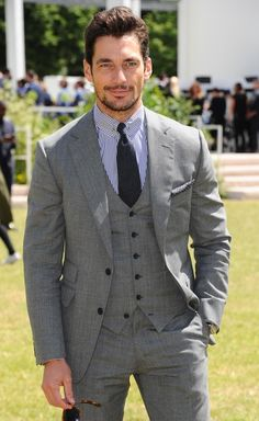David Gandy Photos Photos - David Gandy attends the Burberry Prorsum show during The London Collections Men at on June 2015 in London, England. Famous Male Models, Men's Business Outfits, Androgynous Models, David James Gandy, Men's Day, Burberry Prorsum, Best Wear, Gentleman Style, Stylish Men