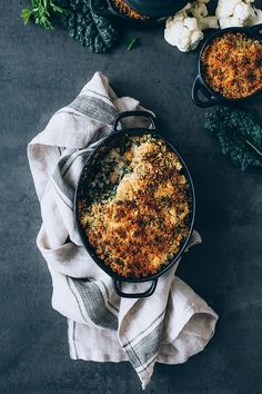 Loaded Cauliflower Casserole with Kale and Chickpeas | The Awesome Green