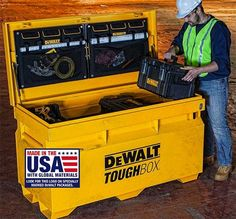 New Dewalt ToughBox New Dewalt ToughBox New Dewalt ToughBox New Dewalt ToughBox. - Expert Home Tools - Used Woodworking Tools, Carpentry Tools, Woodworking Furniture Plans, Woodshop Tools, Woodworking Classes, Truck Tool Box, Truck Tools, Dewalt Tough System, Dewalt Power Tools