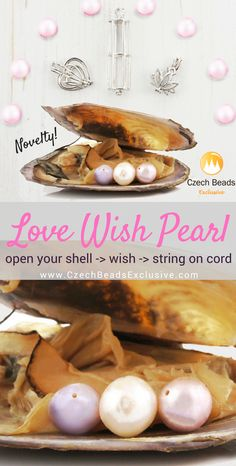New arrivals! Gorgeous Love Wish Pearl beads! | SAVE it!| www.CzechBeadsExclusive.com #czechbeadsexcluisve #czechbeads