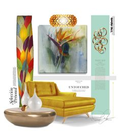 """""""In Living Color"""" by mcheffer ❤ liked on Polyvore featuring interior, interiors, interior design, home, home decor, interior decorating, Joybird Furniture, Mitchell Gold + Bob Williams, Foscarini and Universal Lighting and Decor"""