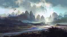Долина, размер: 2560x1440 пикселей