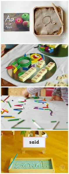 In this post you'll find 25+ simple and engaging ideas for hands-on literacy explorations. Pre-writing, letter recognition and letter writing... all using beautiful manipulatives. From An Everyday Story.