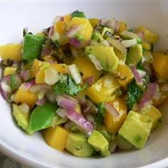 """Avocado Mango Salsa 