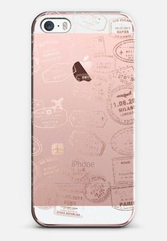 Let's travel...where too? Rose gold iPhone SE case by maria kritzas | Casetify