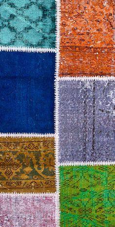 Vintage Patchwork Teppich - mozaiik Unikat Nr. 137TP Carpets, Rugs, Design, Home Decor, Scrappy Quilts, Vibrant Colors, Vintage Rugs, Handarbeit, Farmhouse Rugs