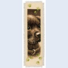 Set of 2 bookmarks - Cat and Dog - counted cross-stitch kits Vervaco