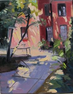 Private Garden Charleston SC by Linda Hunt landscape by LindaHunt, $175.00