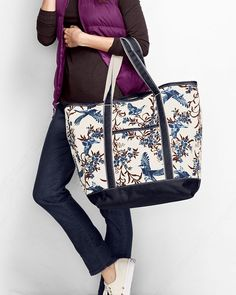 40be160a05f0 Print+Large+Open+Top+Tote+from+Lands +End