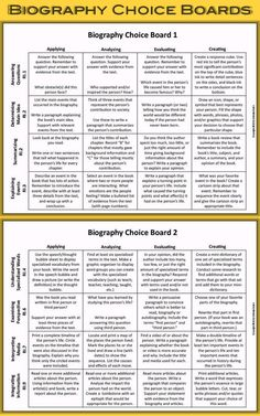 Teaching Biography with Reading Activities for Kids - Enjoy Teaching with Brenda Kovich Autobiography Writing, Writing A Biography, Biography Project, Memoir Writing, Reading Projects, Reading Activities, Activities For Kids, High School Reading, Social Studies Notebook