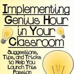 Genius Hour is a concept popularized by Google and 3M. Check out this guide for implementing Genius Hour in your classroom to inspire your students.