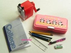 RE-MENT-34-miniature-stationery-pencil-sharpener-book-pink-pencase