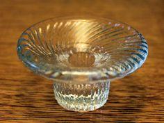 "Vintage Glass ""Poppa"" Candlestick by Valto Kokko for Iittala Finland"
