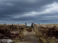 A photograph of the boardwalk to Melmerby Beach, Pictou County, NS Canada