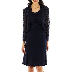 jcp | R&M Collection Ruffled Jacket Dress