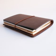 Midori Traveler's Notebook Leather Journal Brown