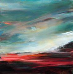 """Saatchi Art Artist Ute Laum; Painting, """"SOLD Norddeutscher Himmel (northern sky)"""" #art"""