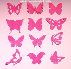 Discover thousands of images about Butterfly_Temp_All_A. Butterfly Wall Art, Butterfly Template, Butterfly Decorations, Butterfly Crafts, Felt Crafts, Diy And Crafts, Arts And Crafts, Paper Crafts, Tissue Paper Flowers