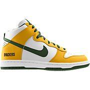 online retailer 37d35 51728 Nike Dunk High (Green Bay Packers) iD Kids  Shoe