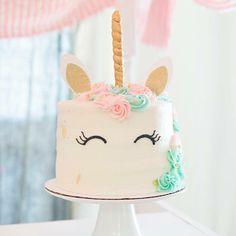 Unicorn Cake Topper | CatchMyParty.com