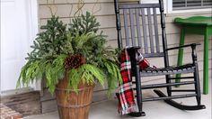 Winter Porch Pot - YouTube