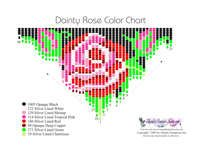 Dainty Rose Fringe Necklace Printable Bead Graph for Beading Beaded Necklace Patterns, Seed Bead Patterns, Beading Patterns, Fringe Necklace, Bead Jewellery, Seed Bead Earrings, Bead Crochet, Beading Tutorials, Loom Beading