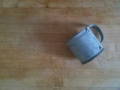 An old tin mug.