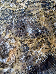 Louise Baldwin Textile Artist decaying wood, peeling paint, rusting material