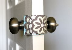 Door Jammer - allows you to open and close baby's door without making a sound. Would be so easy to make