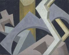 thunderstruck9:  Jessica Dismorr (British 1885-1939) Abstract Composition c.1915. Oil on wood 41.3 x 50.8 cm.  #art #abstract #minimal #geometric