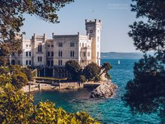Italy Pictures, Old Pictures, European Road Trip, Italy Summer, Beautiful Castles, Trieste, Where To Go, Italy Travel, Places To See