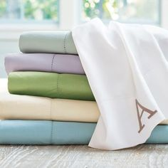 One sly shortcut to the good life is experiencing simple luxury at home night starting right now our Hemstitch Sheet Set. The    delicate hemstitch detailing gives this set a distinctive look that elegantly understated. Even nicer, these are 400 thread count, 100% cotton    sateen sheets, so they also have a lovely sheen that underscores their incredibly soft, smooth texture. To make everything perfect so your bedroom can be    the beautiful retreat you want it to be, we created this as a...