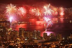 New years in Viña Concón y Valparaiso, Chile - Claimed to be the best fireworks in south america #LatinNewYear #anonuevo #newyear #tradition #chile #southamerica