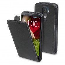 Muvit Slim Leder Tasche LG G2 Schwarz mit Displayschutzfolie  13,99 €