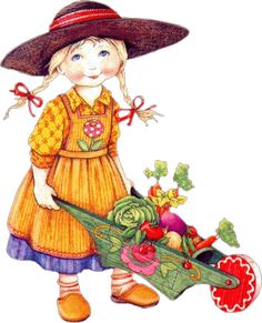 Gardening girl by Mary Engelbreit.