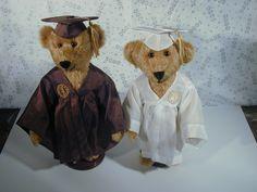 Collectible Mohair Teddy Bear Grad Couple Class of 2000