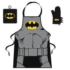 Set Barbecue Tablier Manique et Gant Comics Batman