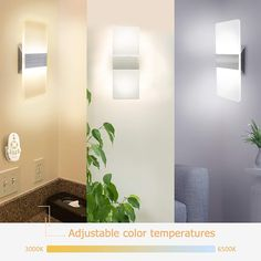 JACKYLED LED wall sconce is the newest version featuring 3 colors, 3000K, 4500K and 6500K. A perfect solution for those who want to pick the best light and control the interior lighting ambience.Color temperature changes every time you switch the light off and on from 3000k to 4500k to 6500k. #Jackyled # LEDwallsconce #Ledlight #indoorlighting #Indoorwallsconce Indoor Wall Sconces, Led Wall Lamp, Modern Wall Sconces, Wall Sconce Lighting, Hallway Lighting, Traditional Lighting, Color Temperature, Interior Lighting, Stairways