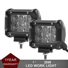 2 stücke 30 Watt LED Work Light Offroad Driving Nebelscheinwerfer Auto Motorrad fahrrad SUV ATV 4WD 4X4 UTE Auto Wagon Pickup Camper Scheinwerfer