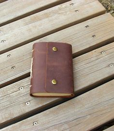 Leather journal,  brown color