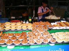 Food Stall at Chatuchak  Weekend Market, Thailand