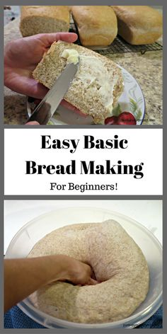 A basic bread making recipe made in easy steps for beginners. via @pursueproject